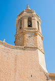 Church of Sant Bartomeu & Santa Tecla in Sitges, Spain Stock Photos
