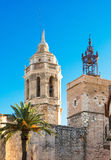Church of Sant Bartomeu & Santa Tecla in Sitges, Spain Stock Photography