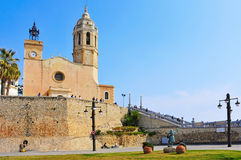 Church of Sant Bartomeu  Sitges, Spain Stock Photo