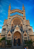 Church of Sant Bartomeu in Soller. Beautiful church of Sant Bartomeu (Saint Bartholomew) in Soller, Majorca, Spain royalty free stock photo