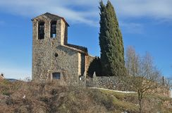 Church of Sant Cugat de Gavadons-Catalonia Royalty Free Stock Images