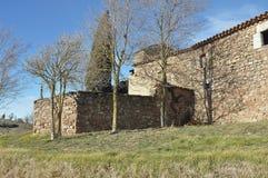 Church of Sant Cugat de Gavadons-Catalonia Stock Photo