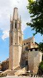 Church of Sant Feliu in Girona Stock Images