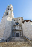 Church of Sant Feliu, Girona, Spain Royalty Free Stock Photos