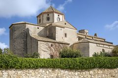 Church of Sant Marti in Spain. Altafulla is a coastal town in the province of Tarragona which has a beautiful historic quarter, declared of Cultural Interest Royalty Free Stock Image