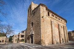 Church of Sant Pere in Pals stock photography