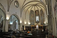Church of Sant Romà. Church located in Lloret de Mar Catalonia Stock Photo