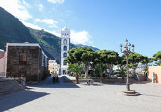Church of Santa Ana in Garachico, Tenerife stock photography