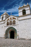 Church of Santa Ana in Maca, Colca Canyon, Peru. It is dating back to the XVI century royalty free stock photo