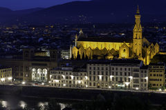 Church of Santa Croce. In Florence Stock Images