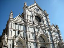 Church of Santa Croce n.2. Front view of the Church of Santa Croce in Florence (Italy Stock Photo