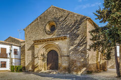 Church of Santa Cruz, Baeza, Spain. Church of Santa Cruz is one of the few churches with Romanesque style, Baeza, Spain royalty free stock photos