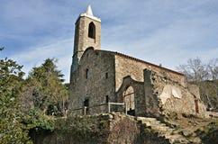 Church is Santa Eulalia de Hortsavinya-Barcelona Stock Photos