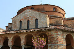 Church of Santa Fosca on Torcello island Royalty Free Stock Image