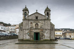 Church of the Santa Liberata. A chapel in Italian plateresque style, started in 1695, in Baiona, Galicia, Spain, on December 28, 2015 Royalty Free Stock Photography