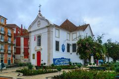 The Church of Santa Luzia, in Lisbon Royalty Free Stock Photography