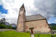 Church of Santa Maddalena in Val di Funes, Italy Royalty Free Stock Photos