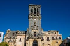 Church of Santa Maria of the Ascension Iglesia de Santa Maria de la Asuncion. Arcos de la Frontera, Spain Stock Photos
