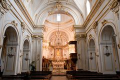 Church of Santa Maria Assunta Positano Italy. Inside the church of Santa Maria Assunta Positano Stock Photo