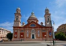 Church of Santa Maria Assunta (XVI c.). Carignano, Genoa, Italy. Church of Santa Maria Assunta (circa XVI c.). Architect Galeazzo Alessi. Carignano, Genoa, Italy Royalty Free Stock Image