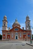 Church of Santa Maria Assunta (XVI c.). Carignano, Genoa, Italy. Church of Santa Maria Assunta (circa XVI c.). Architect Galeazzo Alessi. Carignano, Genoa, Italy Stock Photos