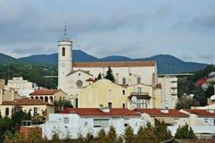 Church of Santa Maria-Caldes d'Estrac Stock Photos