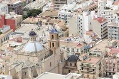 Church of Santa Maria de Alicante in Spain. stock photography