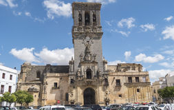 Church of Santa Maria de la Asuncion, Arcos de la Frontera, Spai Royalty Free Stock Photography