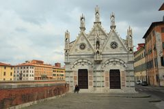 Church Santa Maria De La Spina in Pisa Royalty Free Stock Image
