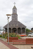 Church of Santa Maria de Loreto at Achao, Quinchao Island, Chile Royalty Free Stock Photo