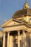 Church of Santa Maria dei Miracoli. In Piazza del Popolo. Rome, Italy Royalty Free Stock Photography