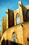Church Santa Maria del Mar in Barcelona Stock Image