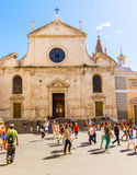 Church of Santa Maria del Popolo in Rome, Italy Royalty Free Stock Photo