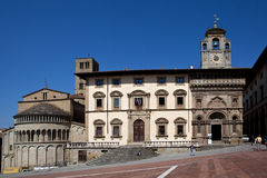 Church of Santa Maria della Pieve (Arezzo). Italy. Royalty Free Stock Photos