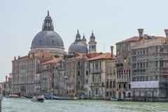 Church of Santa Maria della Salute, Venice, Italy. Canal Grande and the church of Santa Maria della Salute in the city of Venice in Italy stock image