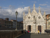 Church of Santa Maria della Spina in Pisa. Tuscany. Italy Royalty Free Stock Images