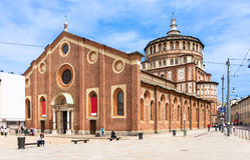 Church of Santa Maria delle Grazie, Milan Stock Image