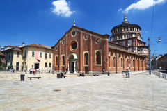 Church of Santa Maria delle Grazie in Milan Stock Photo
