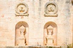 Church of Santa Maria di Costantinopoli at Cisternino on Puglia Stock Images