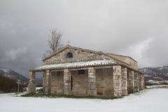 Church of Santa Maria di Pistia or Plestia, Colfiorito. Royalty Free Stock Images