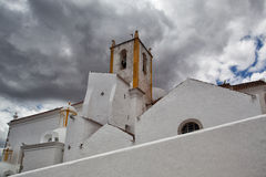 Church of Santa Maria do Castelo before storm Stock Images