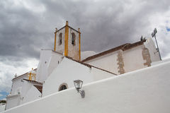 Church of Santa Maria do Castelo before storm,,Tavira, Algarve, Stock Photography