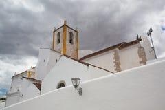 Church of Santa Maria do Castelo before storm,,Tavira, Algarve, Stock Photography