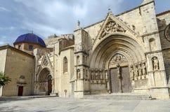 The church Santa Maria la Mayor in Morella Spain Stock Images