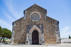 Church of Santa Maria in Lourinha Stock Photography