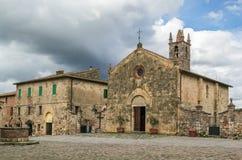 Church of Santa Maria, Monteriggioni, Italy Royalty Free Stock Photo