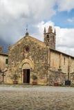 Church of Santa Maria, Monteriggioni, Italy Stock Image