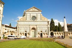 Florence, Italy - September 08, 2017: Church of Santa Maria Novella. royalty free stock image