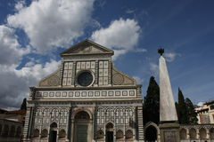 Church of Santa Maria Novella at morning in Florence, Tuscany, Italy.  Royalty Free Stock Photo