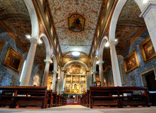 The Church of Santa Maria in Obidos, Portugal Royalty Free Stock Images